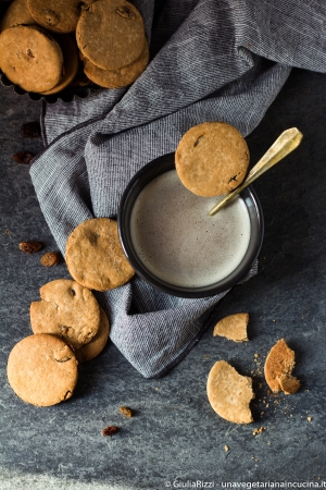 biscotti alle castagne e uvetta glutenfree senza lattosio