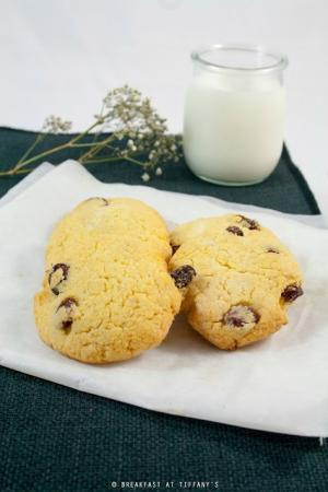 Biscotti con farina di mais, di riso e uvetta