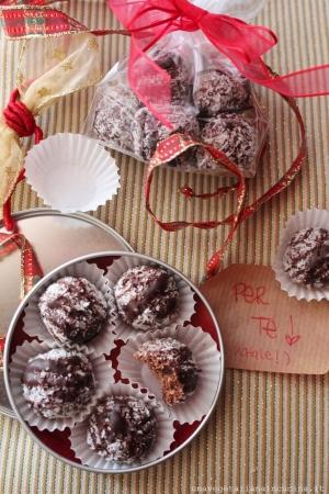 tartufi cioccolato cocco mandorle