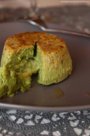 Sformatini ai broccoli e cavolo nero con cuore di mozzarella
