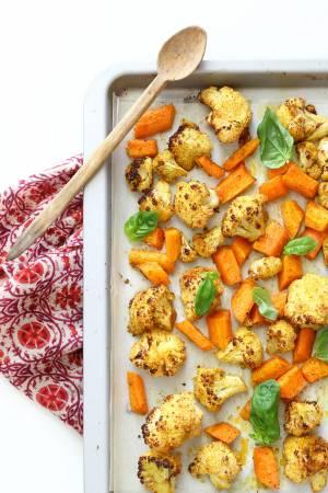 Cavolfiore e carote speziate al forno