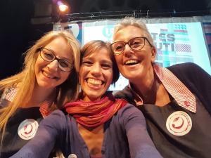 cucinaMancina e Antonella Michelotti all'Internet Festival