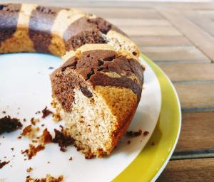 Torta zebrata vegan (senza zucchero)