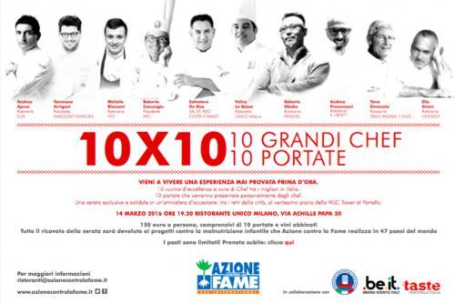 10x10: i grandi Chef contro la fame