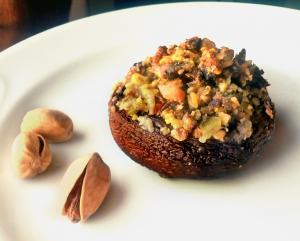 Funghi gratinati con pistacchi