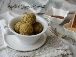 Polpette di quinoa e broccoletti con curcuma e semi di lino