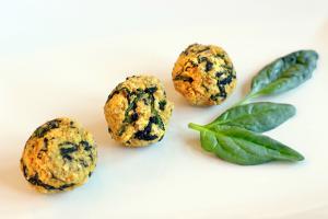 Polpettine di ceci con spinacino e semi di chia #zerospreco