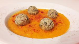 Polpette di quinoa su crema di carote #zerospreco