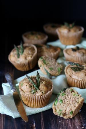Muffin integrali agli asparagi
