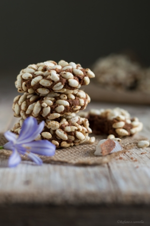 Biscotti al cocco, cacao e riso soffiato #ricettedelbuonumore