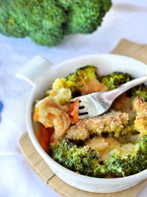 Tortino di broccoli e zucca al forno
