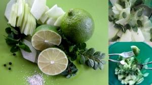 Preparazione della zucca del fachiro in insalata