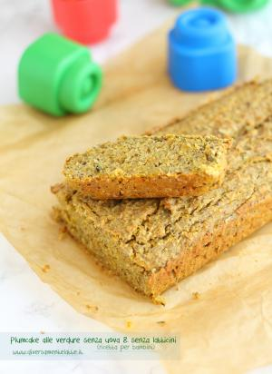 Plumcake alle verdure senza uova e senza latticini - Ricetta per bambini
