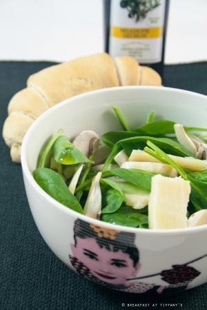 Insalata di champignon con spinacini