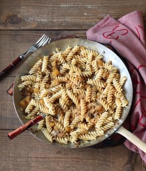 Fusilli, zucca e lenticchie gluten free