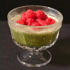 Chia pudding al the matcha