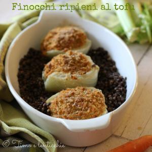 Finocchi ripieni al tofu e carote