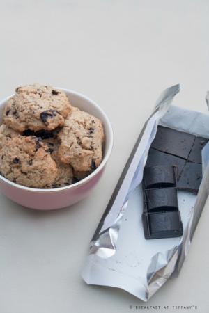 Cookies integrali con pezzetti di cioccolato