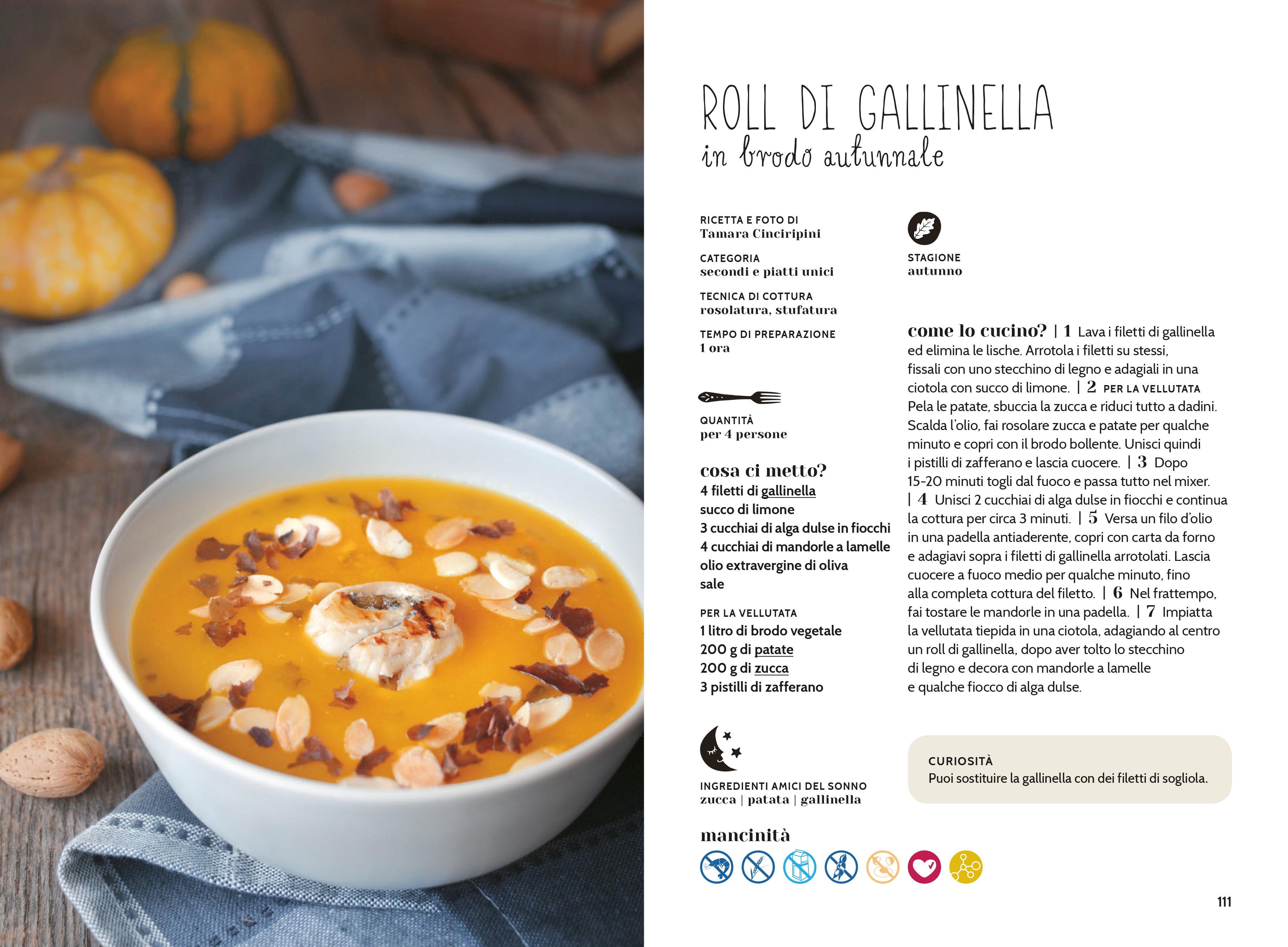 roll gallinella in zuppa di zucca
