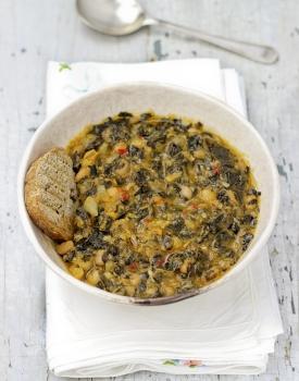Zuppa di fagioli e cavolo nero #zerospreco