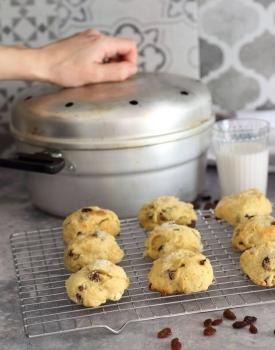 Biscotti uvetta, marsala e arancia senza burro