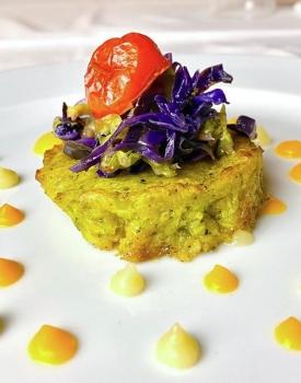 Burger di broccoli e patate con cavolo viola e verza #ricettedelbuonumore