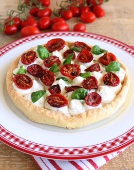 Crostata salata con pomodori e ricotta #ricettedelbuonumore