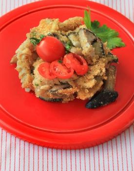 Fusilli al forno con ragu' vegetariano