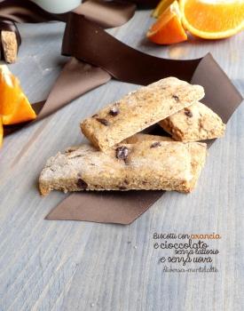 Biscotti con arancia e cioccolato senza lattosio e senza uova
