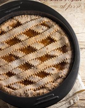 Crostata vegan al farro