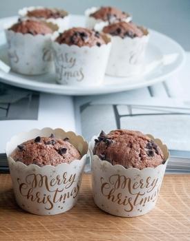 Muffin gluten-free con farina di castagne e nocciolata
